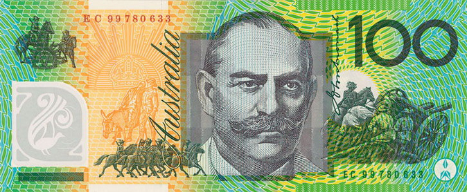 Money Hundred Dollars AUD F