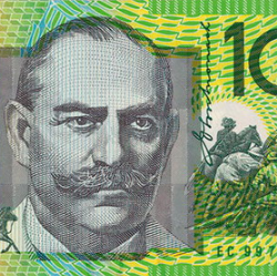 Money Hundred Dollars AUD Half