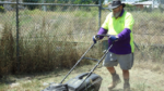 employment lawn mower man